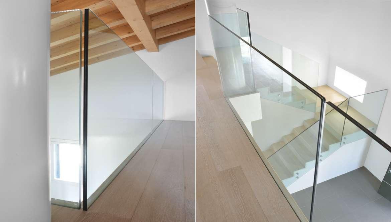 Parapetti da interno il vetro resistente che arreda for Applicazioni per arredare interni