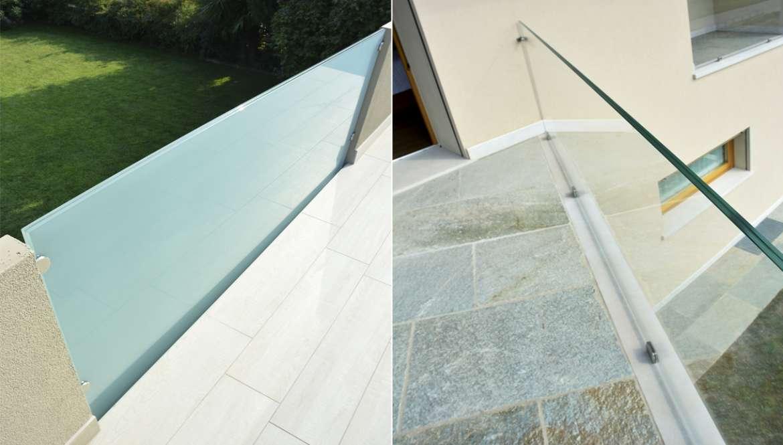 Il vetro da esterno design unico dei parapetti for Divisori da esterno