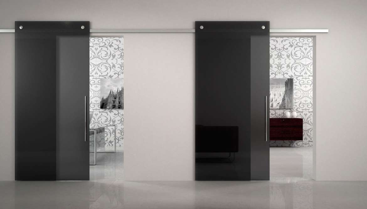 Porte in solo vetro design unico di owl glass - Porte di cristallo ...