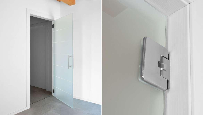 Doppia Porta Scorrevole : Porte in solo vetro design unico di owl glass