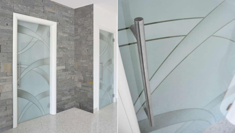 Porte in solo vetro design unico di owl glass - Porte in legno con vetro decorato ...